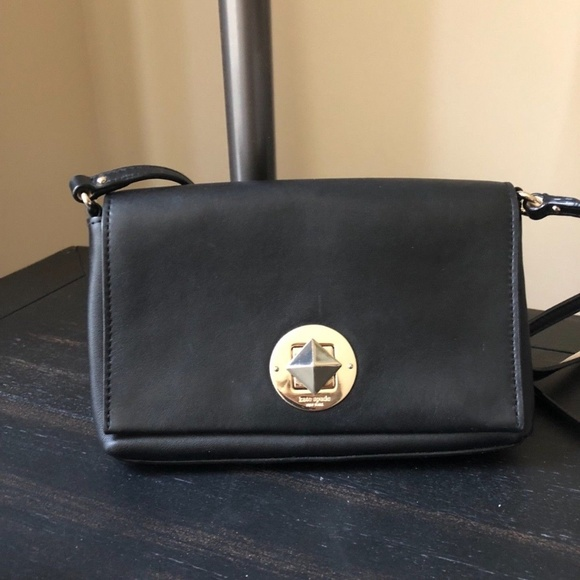 kate spade Handbags - Kate Spade Small Black Leather Purse with Strap